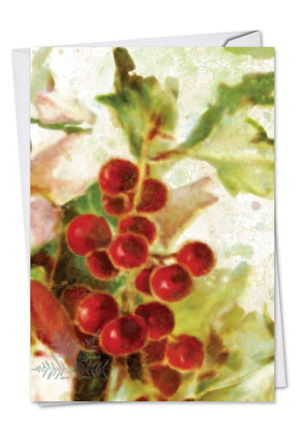 Holly Days: Creative Christmas Thank You Greeting Card