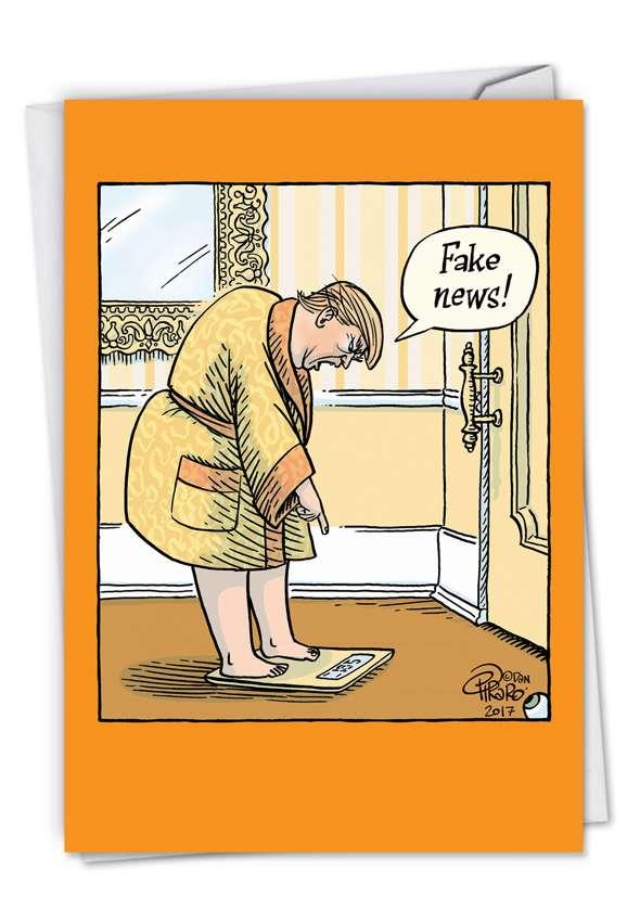 Fake Weight: Humorous Birthday Greeting Card