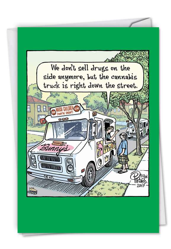 Cannabis Truck: Hysterical Birthday Printed Card