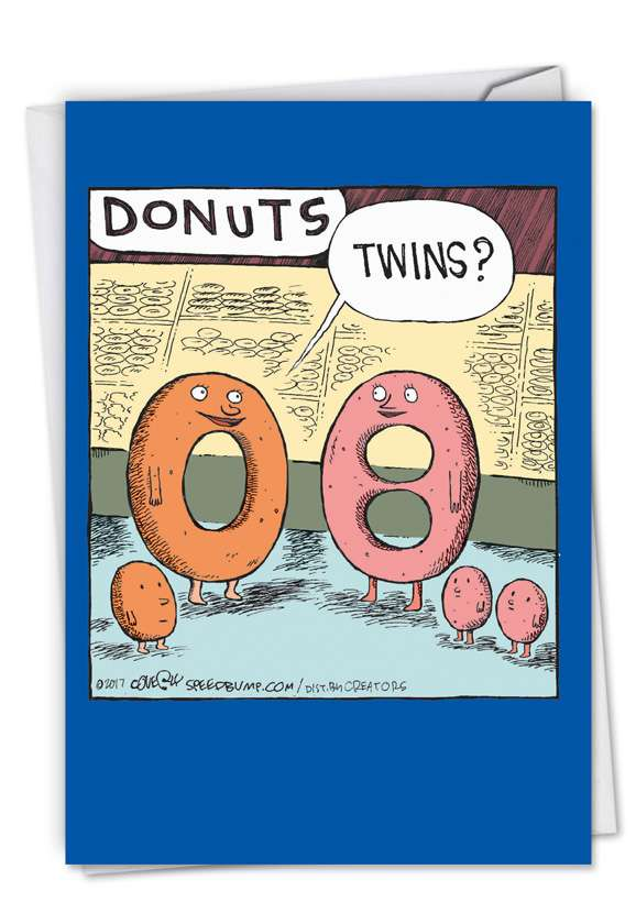 Donut Twins: Humorous Baby Paper Card
