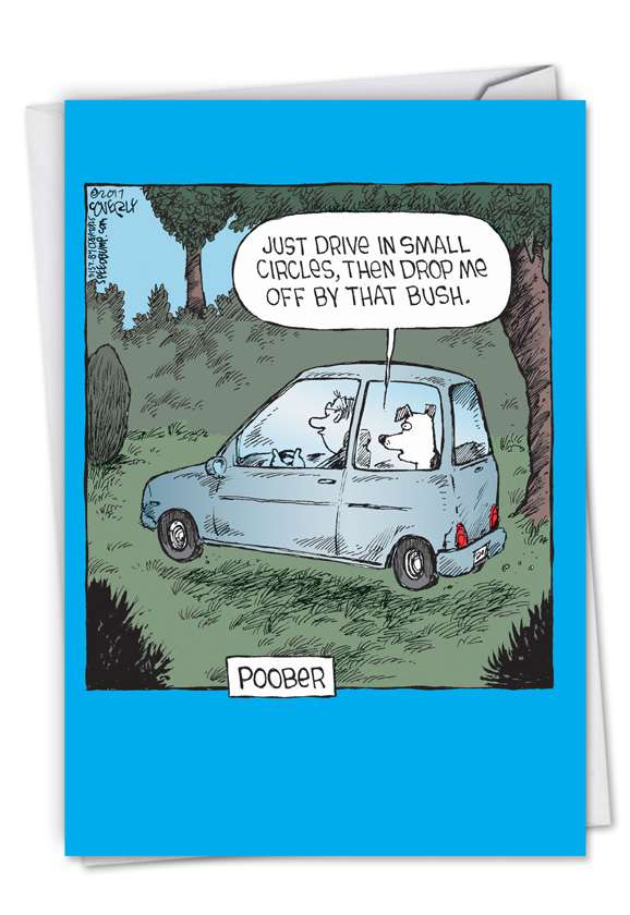 Poober: Humorous Birthday Printed Greeting Card