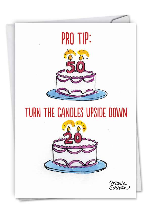 Pro Tip: Funny Birthday Paper Card