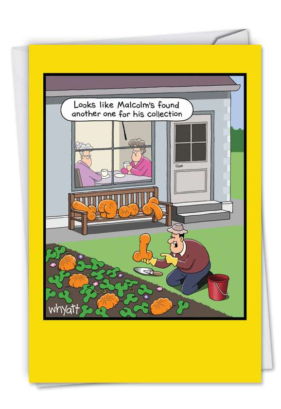 Rude Vegetables: Hilarious Halloween Printed Greeting Card