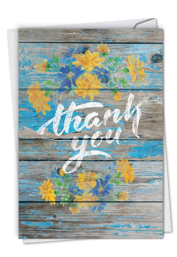 Blooming Driftwood - Thank You: Creative Thank You Printed Card