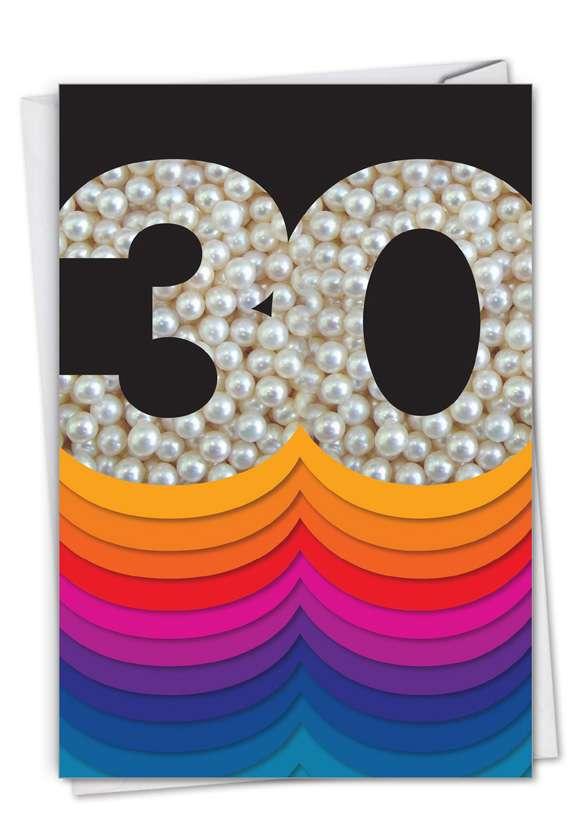 Bold Milestones: Stylish Milestone Anniversary Card