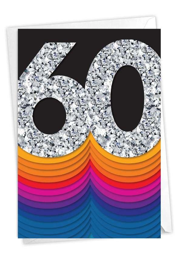 Bold Milestones - 60: Creative Milestone Anniversary Printed Greeting Card