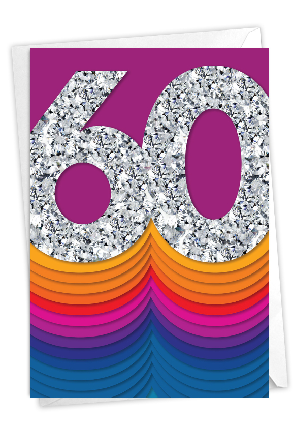 Bold Milestones - 60: Stylish Milestone Birthday Card