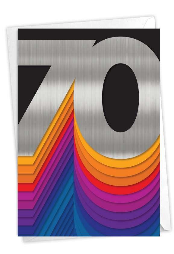 Bold Milestones - 70: Creative Milestone Birthday Greeting Card