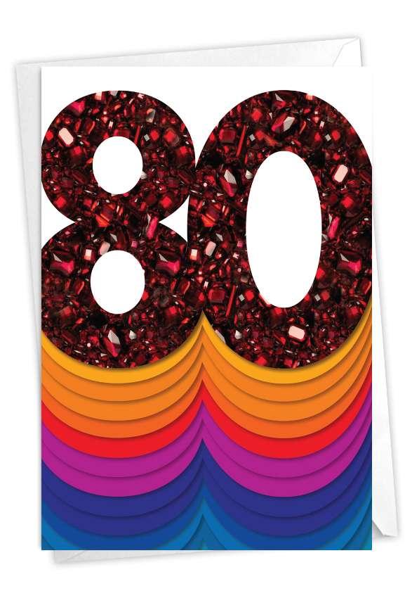Bold Milestones - 80: Stylish Milestone Birthday Paper Card