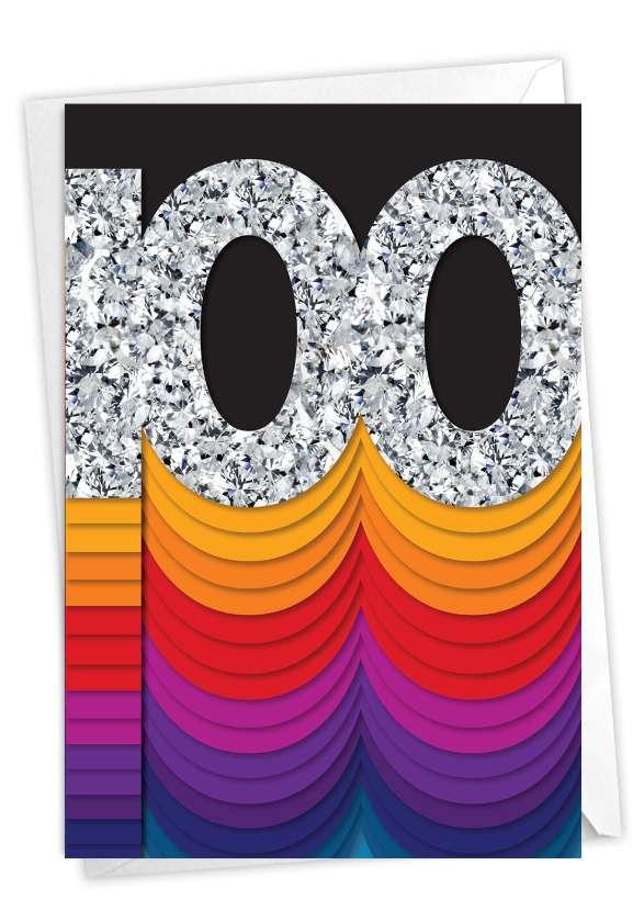 Bold Milestones - 100: Stylish Milestone Birthday Paper Greeting Card