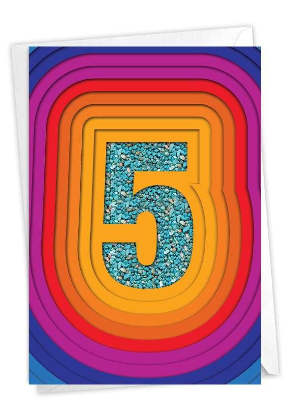 Bold Milestones - 5: Stylish Milestone Anniversary Card