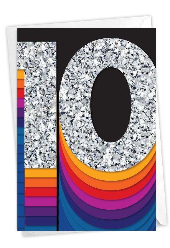 Bold Milestones - 10: Creative Milestone Anniversary Greeting Card