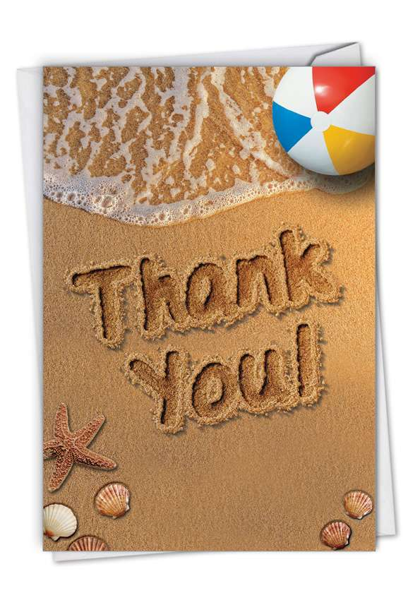Beach Notes - Thank You: Stylish Thank You Card