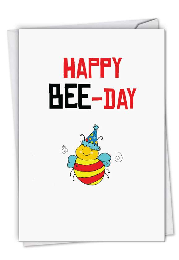 Birthday Puns-Bee: Stylish Birthday Paper Card