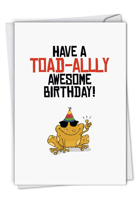 Birthday Puns-Frog: Stylish Birthday Paper Card