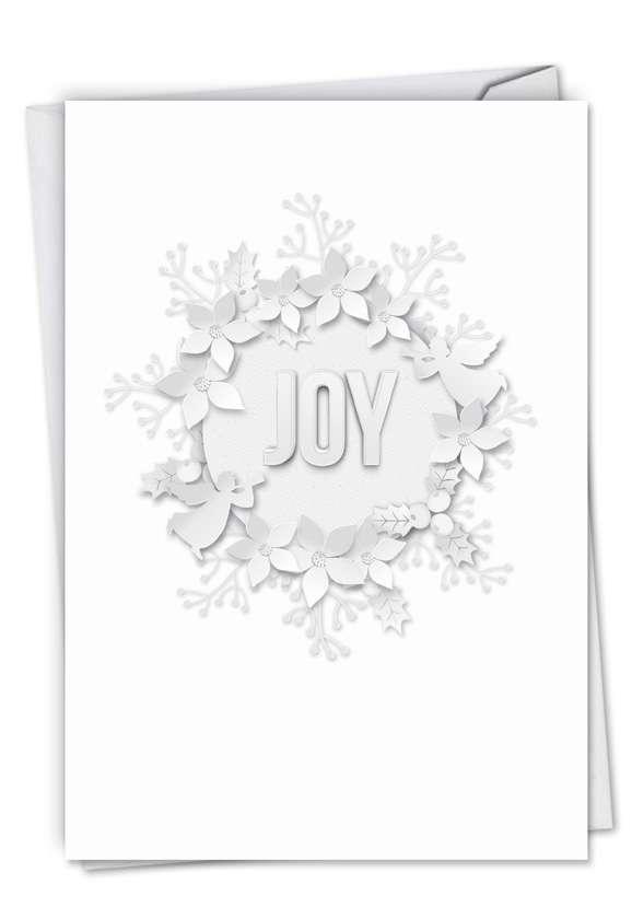 Winter White on White-Joy: Creative Christmas Thank You Printed Card