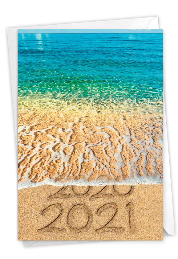 Sands Of Time - 2020: Stylish New Year Card