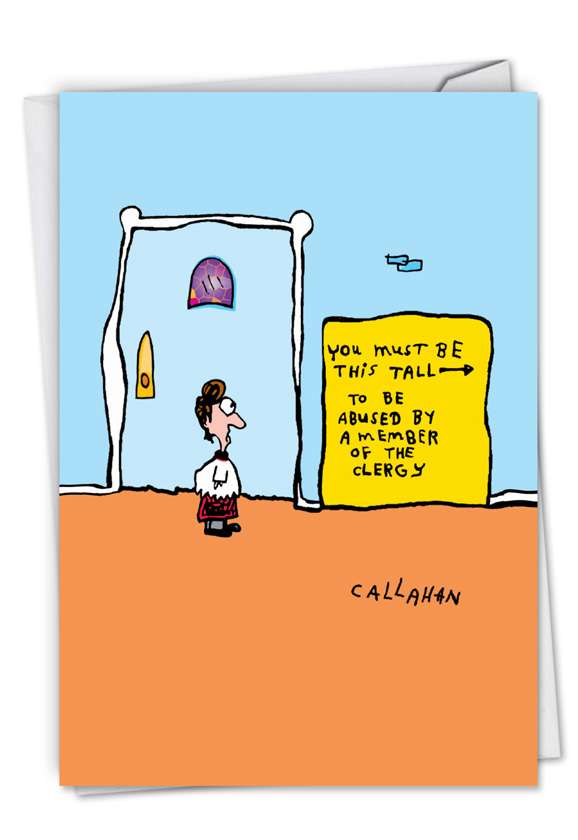John Callahan's Must Be This Tall: Hysterical Birthday Printed Card