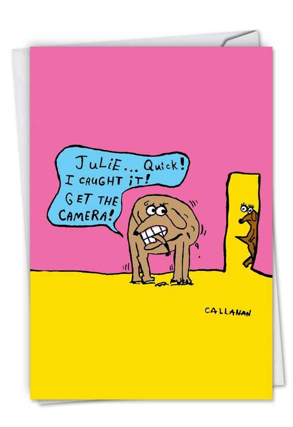 John Callahan's Caught Tail: Hilarious Birthday Printed Greeting Card