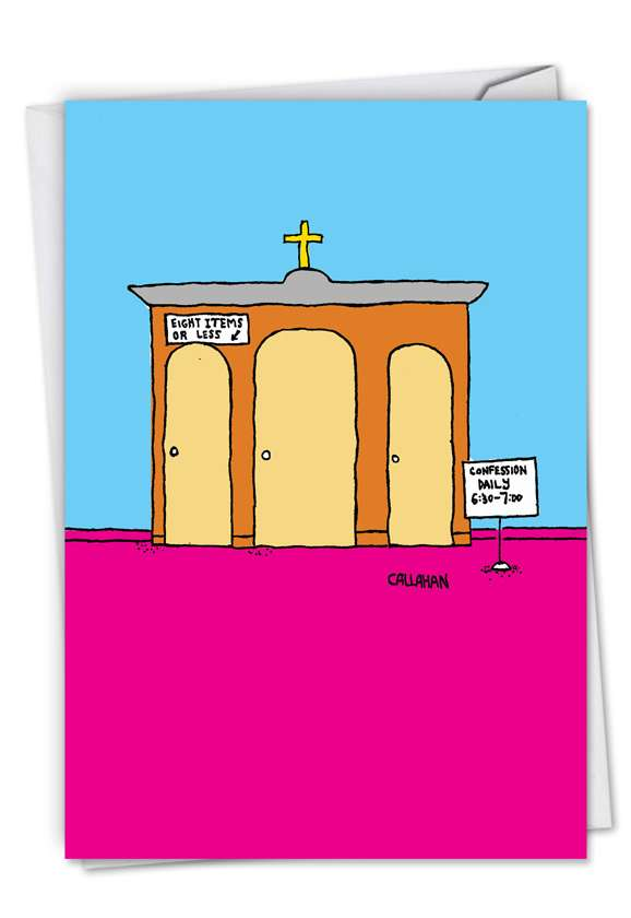 John Callahan's Daily Confession: Humorous Birthday Card