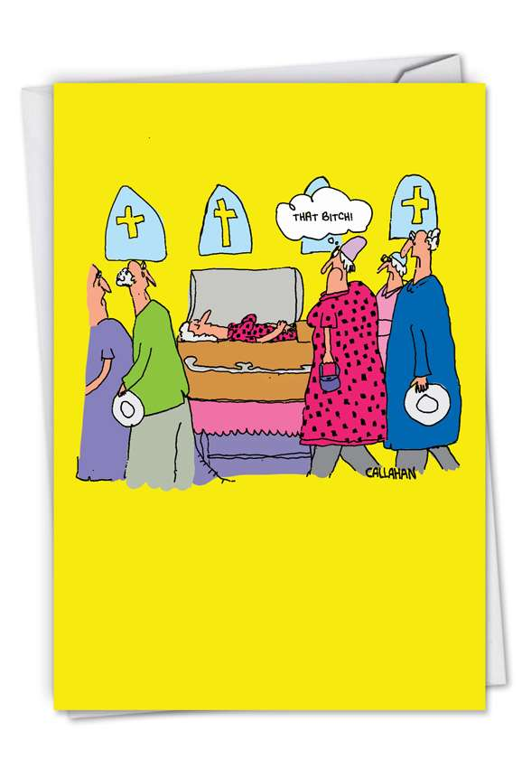 John Callahan's That B Dress: Funny Birthday Card