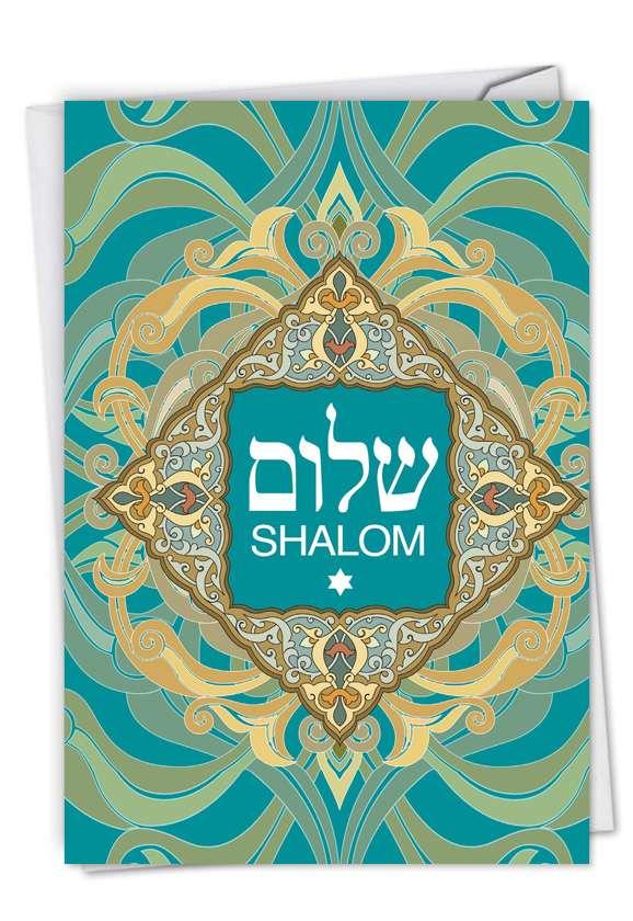 Shalom Sentiments: Creative Friendship Blank Printed Card
