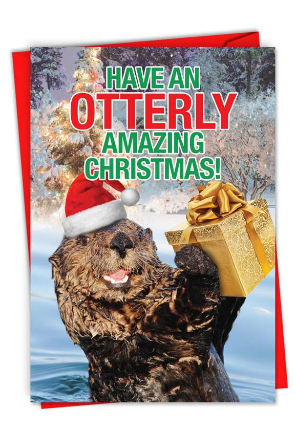 Otterly Amazing Christmas: Hysterical Merry Christmas Greeting Card