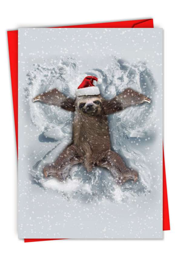 Sloth Angel: Hilarious Merry Christmas Greeting Card