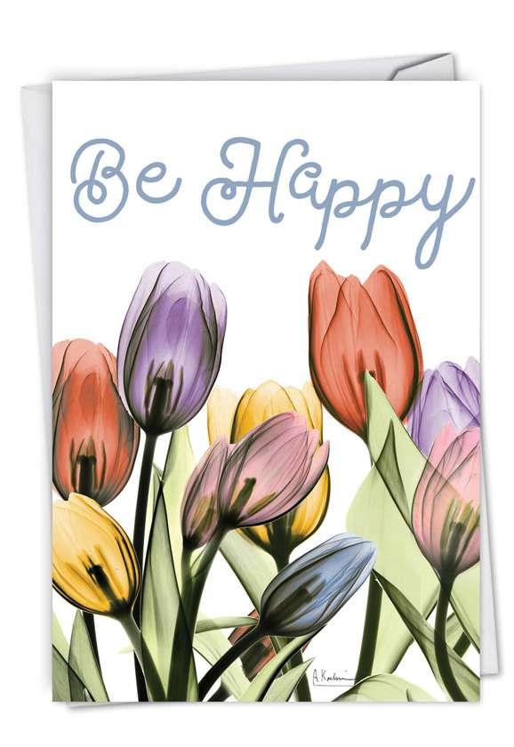 Inspiring Floral Mix: Creative Birthday Printed Card