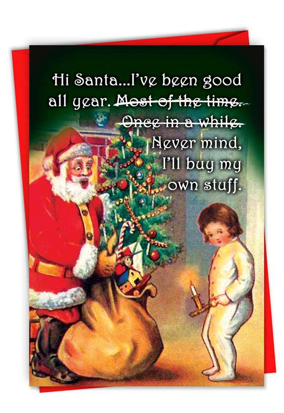 Buy My Own Stuff: Hysterical Merry Christmas Greeting Card