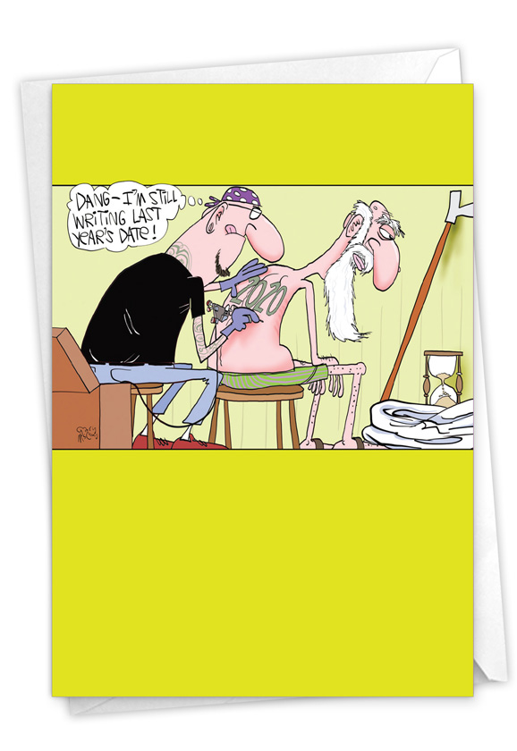 Last Year's Tattoo - 2020: Humorous New Year Paper Card