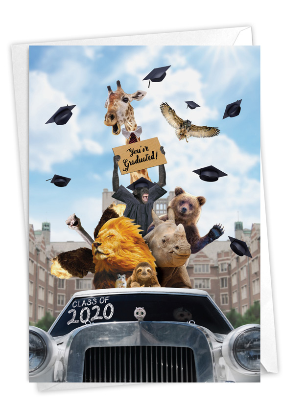 Going Wild - 2020: Stylish Graduation Card