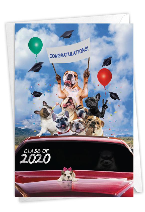 Bulldog Mascot - 2020: Creative Graduation Greeting Card