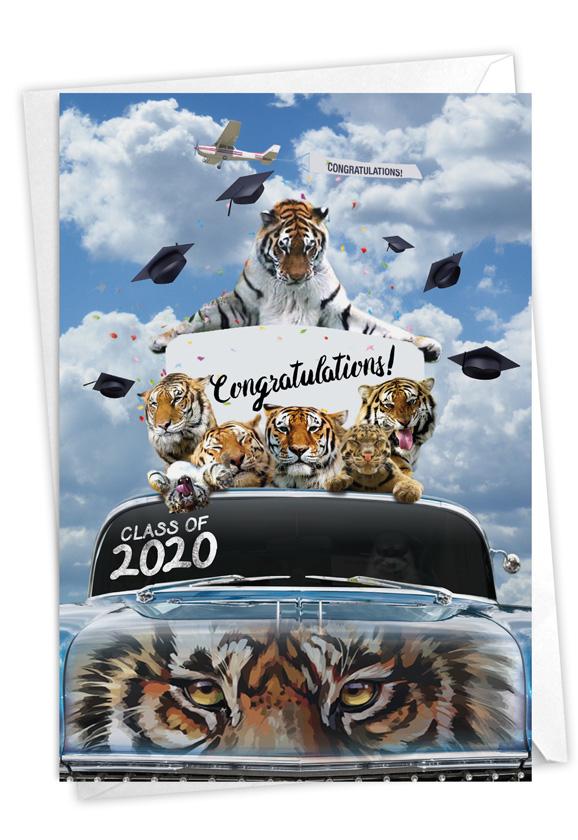 Tigers Mascot - 2020: Stylish Graduation Paper Card
