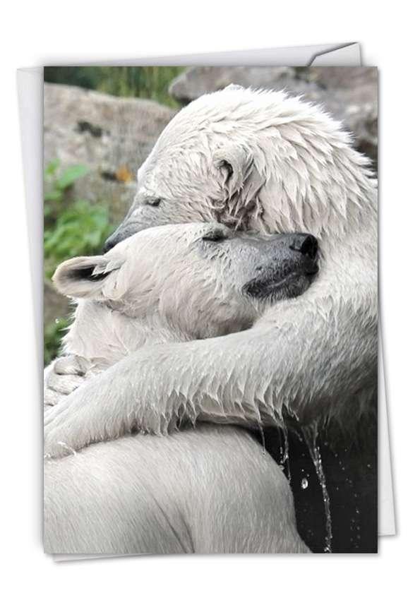 Bear Hugs: Creative Valentine's Day Printed Greeting Card