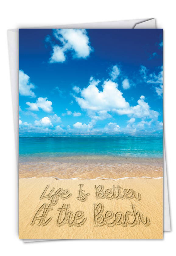 Life's a Beach: Creative All Occasions Blank Printed Card