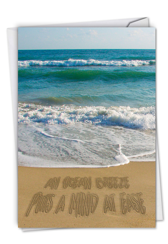 Life's a Beach: Stylish All Occasions Blank Paper Greeting Card