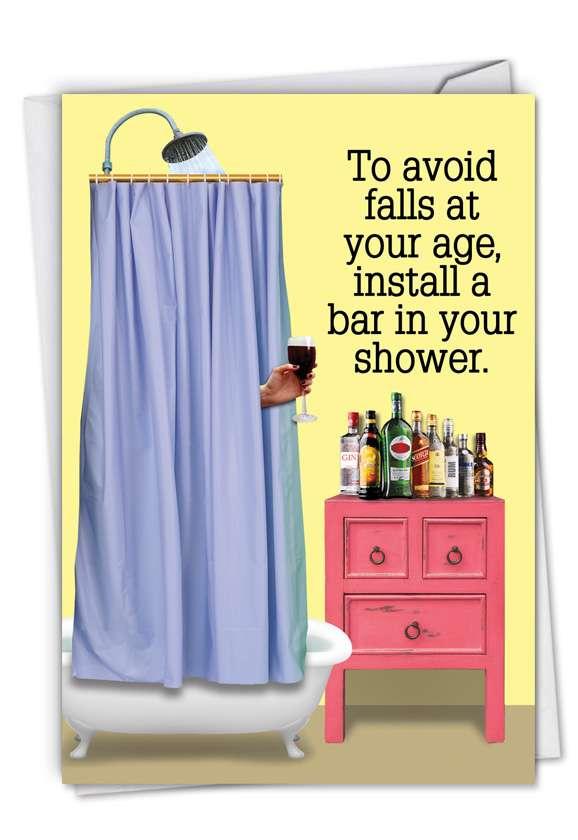 Shower Bar: Hysterical Birthday Greeting Card