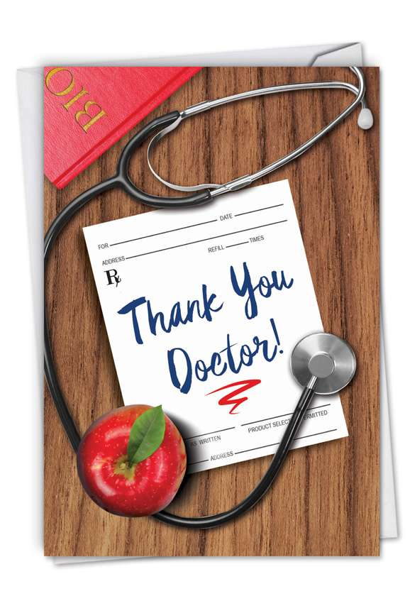 Doctor Gratitude: Funny Thank You Paper Card