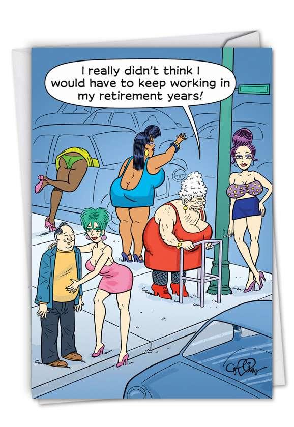 Retirement Work: Humorous Retirement Paper Card
