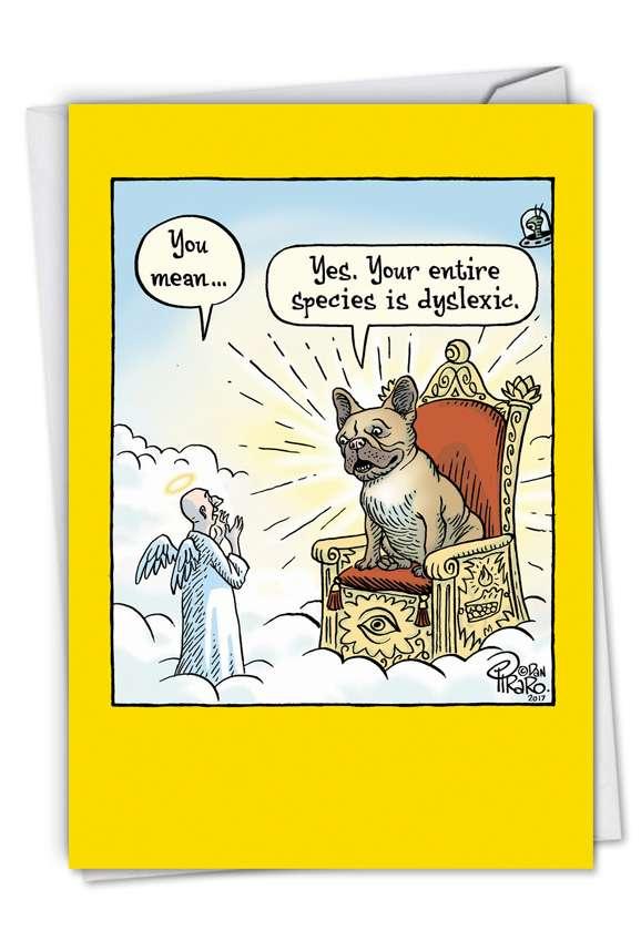Dyslexic God: Hysterical Birthday Printed Card