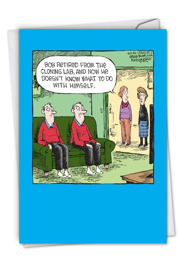 Cloning Lab: Hysterical Retirement Greeting Card