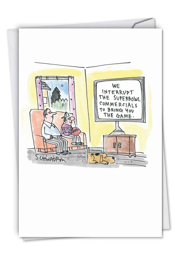 Super Bowl Commercials: Humorous Birthday Paper Card