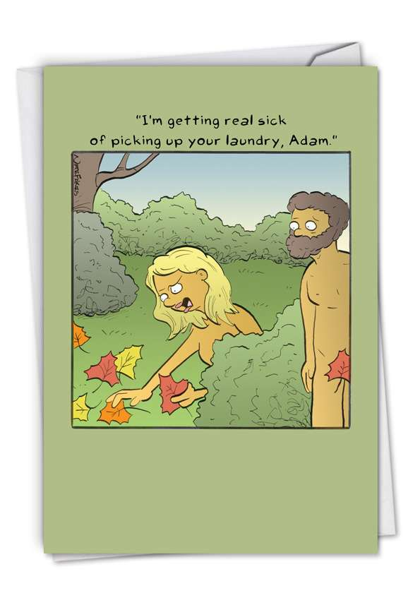 Hysterical Anniversary Printed Greeting Card By Fakes, Nate From NobleWorksCards.com - Adam's Laundry