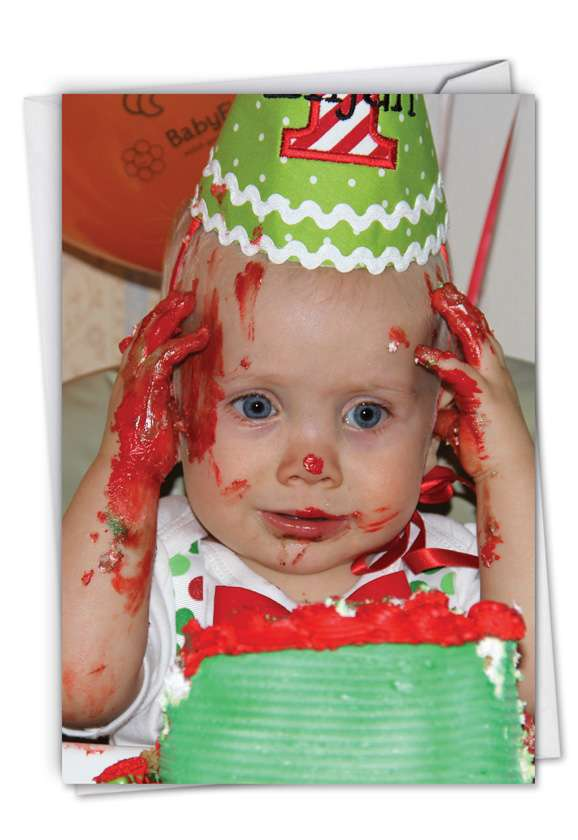 Cake Mess: Humorous Birthday Card