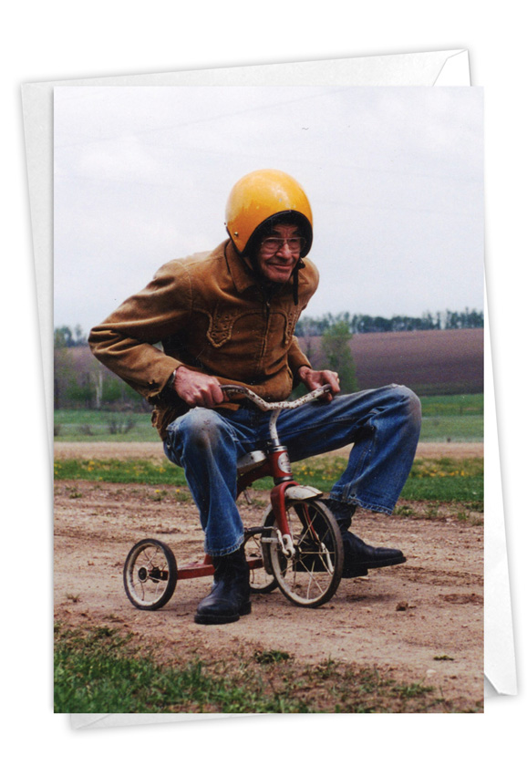 Senior Trike Ride: Hysterical Retirement Greeting Card