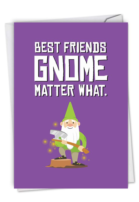 Friendly Garden Gnomes - Besties Card