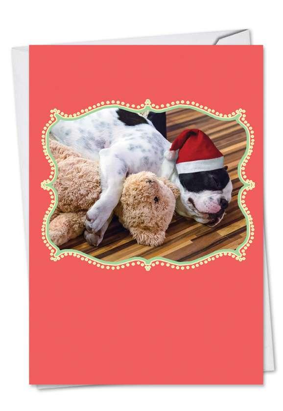 Christmas Cuddle Buddies: Stylish Christmas Greeting Card