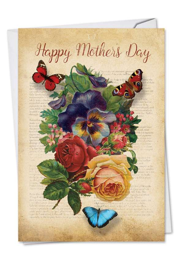 fluttering words  stylish mother u0026 39 s day card