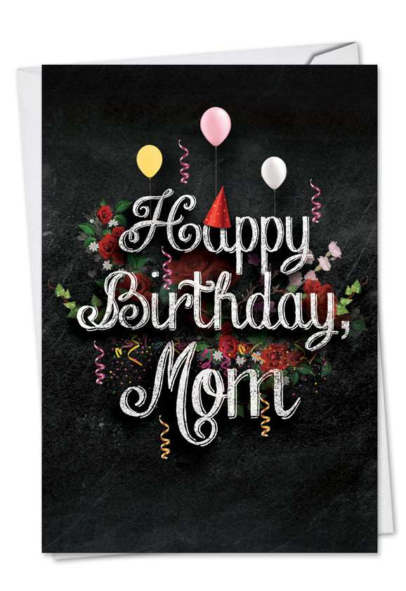 Chalk and Roses - Birthday Card